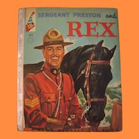Sergeant Preston and Rex Rand McNally Elf Book
