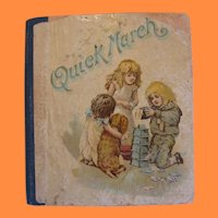 Delightful Miniature Book titled Quick March