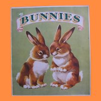 Vintage Sam'l Gabriel Sons & Company Kids Book titled Bunnies