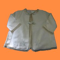 Lovely Silk & Tatted Embroidered Baby Jacket for Antique Doll or Christening