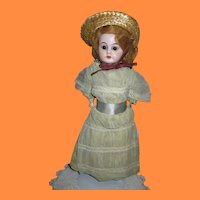 "German Bisque 13"" Doll Gift from Sunday School Teacher in 1905"