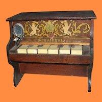 Vintage Miniature Schoenhut Piano for Doll Display
