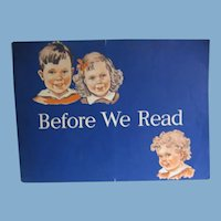 Vintage Dick and Jane Pre Reading Activity Book from 1940 Plus Halloween Preps