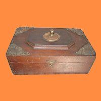 Old Decorative Wooden Box with Adornments