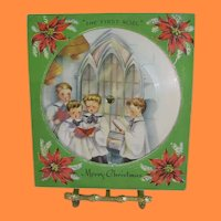 Vintage Original Christmas Record Card The First Noel