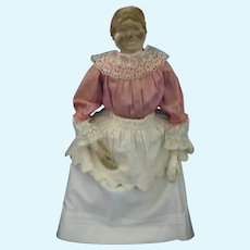 Antique Paper Mache and Cloth Appliance Cover Doll