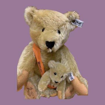 Steiff Signed Mama/Baby Bear 101st Anniversary