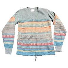 Vintage 1970s Deadstock Patterned Top/Sweater UK Size 10/12