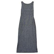 Vintage Fendi Black Pinstripe Signature Dress UK Size 10