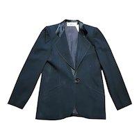 Original 1980s Vintage Black Chloe Tailored Jacket UK Size 10 Designer Jacket