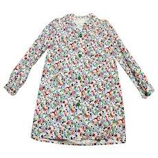 Original 1940s Vintage CC41 Horrockses Swirl Print Shirt Dress Size 12/14 Vintage Clothing