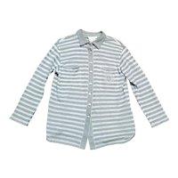 Original 1980s Vintage Escada Silver Striped Cardigan UK Size 14/16 Vintage Clothing