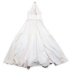 Original 1950s Vintage Susan Small Pearl Halterneck Dress UK Size 8 Vintage Clothing