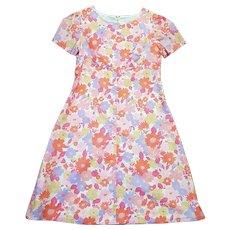 1960s Vintage Pastel Floral Shift Dress UK Size 16