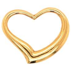 Vintage 18K Yellow Gold Heart Charm Pendant