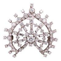 Diamond Pendant Mounted in Platinum