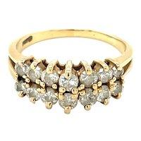 14K Yellow Gold Round cut Diamond Ring