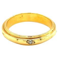 14K Yellow Gold Round cut Diamond Band