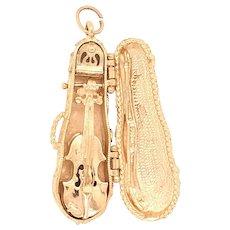 14K Yellow Gold Violin Charm