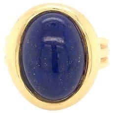 18K Gold Lapis Lazuli Ring