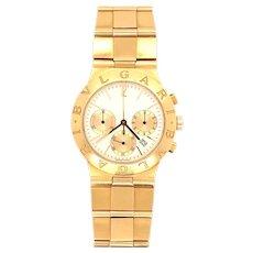 Bvlgari Diagono Scuba 18K yellow Gold Chronograph 38MM Automatic Watch