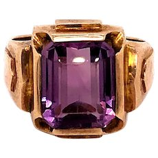 10K Gold Amethyst Ring