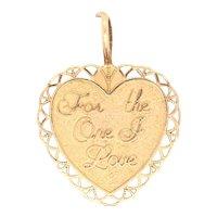 14K Yellow Gold Heart Charm