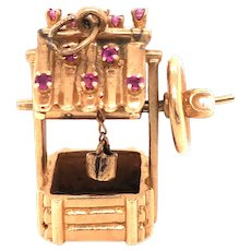 14K Gold Water Well Charm