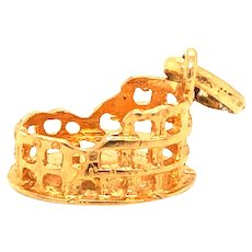 18K Gold Colosseum Charm