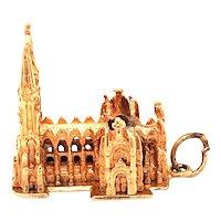 14K Gold St. Patricks Cathedral Charm
