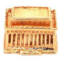 14K Gold Lincoln Memorial Charm