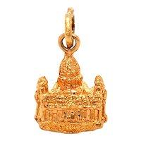 18K Gold St Peters Basilica Vatican Charm