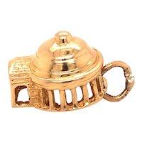 14K Gold Vintage Travel Charm