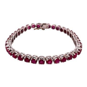 9K White Gold Ruby Bracelet