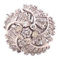 Platinum Diamond Swirl Ring