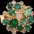 18K Mosaic Multi Shape Emerald Diamond Ring