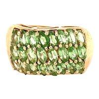 14K Yellow Gold Marquise-cut Peridot Ring