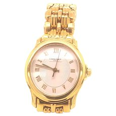 18K Vintage Women's Chaumet Watch Roman Dial