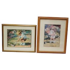 Corinne Hartley Little Golfers Framed Set