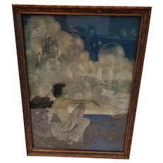 "Vintage Maxfield Parrish ""Air Castles"""