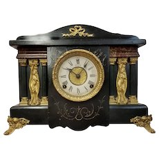 Antique Eight Day Sessions Mantel Clock
