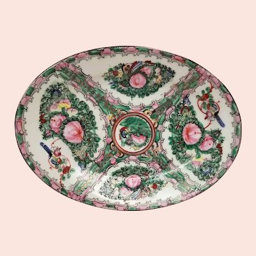 Vintage Chinese Rose Macao Serving Plate