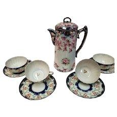 Hand Painted Chocolate/Coffee/Tea Set