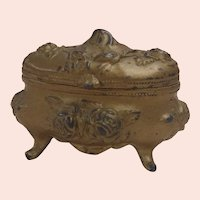 Bronze Gilded Rogers Silver Co. Trinket Box