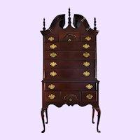 20th Century Vintage Link-Taylor Mahogany Highboy Dresser Chest