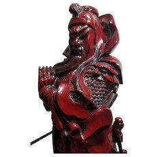Vintage Chinese General Guān Yǔ Warrior Statue Sculpture Figurine