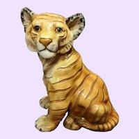 1950s MARWAL Vintage Tiger Cub Large Statue Sculpture Chalkware