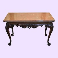 19th Century Irish Chippendale Style Mahogany Accent Console Table