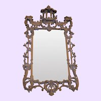 Vintage Chinese Chippendale-Style Pagoda Mirror