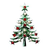 Vintage Mid Century Mylu Christmas Tree Brooch